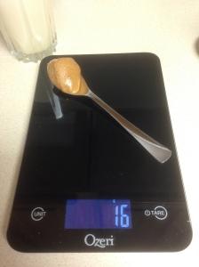 Measured Peanut Butter
