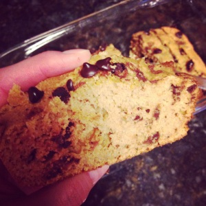 Jazzy Things Pumpkin Choc Chip Protein Bread